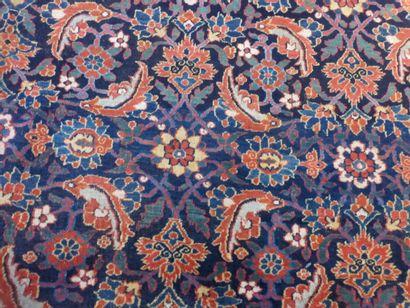 Tapis Hérat (chaîne en coton, trame et velours en laine), Nord-est de la Perse,...
