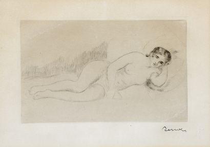 Auguste RENOIR (1841 - 1919)  Femme nue couchée...