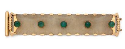 Bracelet ruban en or jaune 750 millièmes...
