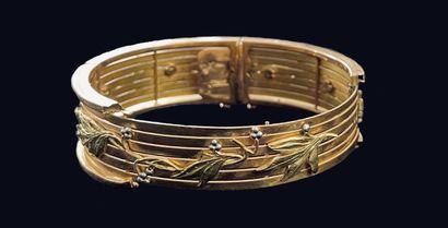 Bracelet dans trois tons d'or 750 millièmes...