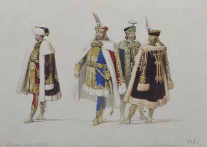 Matthäus LODER (1781-1828)  Etude de costumes...