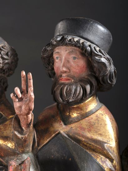 ATELIER SOUABE ou du RHIN SUPÉRIEUR, premier quart du XVIe siècle  La Dormition...