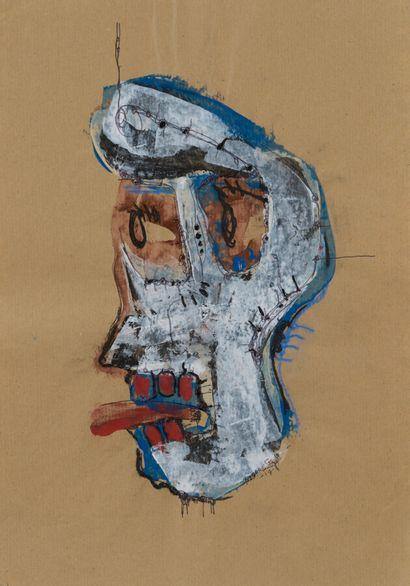 Pierre SEGOH, né en 1980 - Togo  Duo de dessin Paulettte et Ginette  Gouache et...