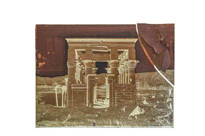 FELIX BONFILS TEMPLE HYPETRE, VU DE FACE, PHYLOE. HAUTE EGYPTE 1867-1875  Négatif...