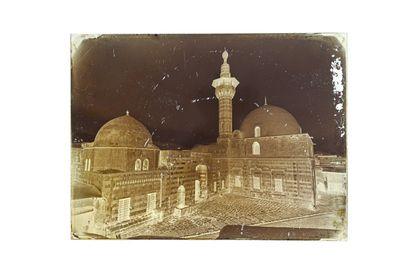 FELIX BONFILS EXTERIOR OF CAIRO MOSQUE 1867-1875  Collodion negative on glass plate,...