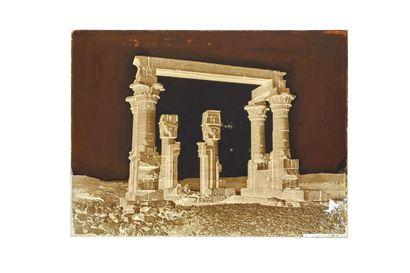 FELIX BONFILS TEMPLE OF KERDASEH, UPPER EGYPT (NUBIA) 1867-1875  Collodion negative...