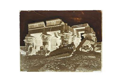 FELIX BONFILS KOUM-OMBOS, LE TEMPLE, HAUTE EGYPTE 1867-1875  Négatif au collodion...
