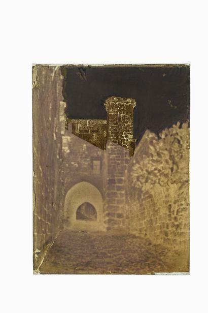 FELIX BONFILS JERUSALEM, ANTONIA TOWER. 1867-1875  Collodion negative on glass plate,...