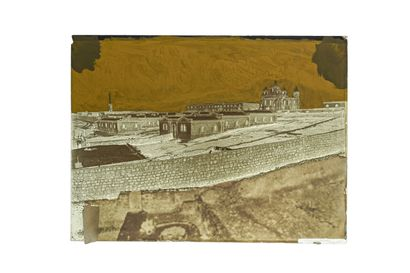 FELIX BONFILS JERUSALEM, RUSSIAN CONVENT. 1867-1875  Collodion negative on glass...