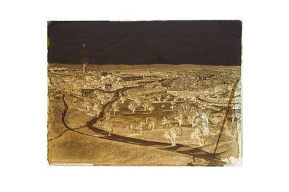 FELIX BONFILS JERUSALEM, VALLEE DE GIHON ET L'ÉTANG INFÉRIEUR 1867-1875  Négatif...