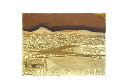 FELIX BONFILS PANORAMA OF ATHENS IN THREE PARTS 1867-1875  Three wet collodion negatives...