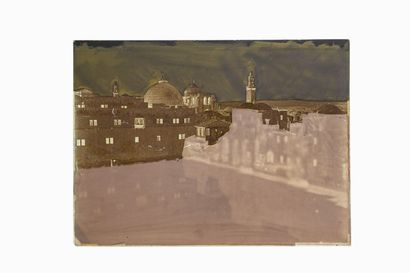FELIX BONFILS JERUSALEM, EZECHIAS RESERVOIR 1867-1875  Collodion negative on glass...
