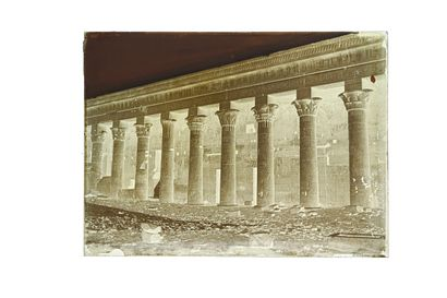 FELIX BONFILS NORTH PERISTYLE OF THE ISIS TEMPLE, PHYLOE. UPPER EGYPT 1867-1875  Collodion...