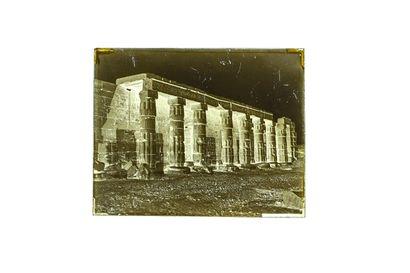FELIX BONFILS RUINES DU TEMPLE DE KOURNAK A THÈBES-HAUTE EGYPTE 1867-1875  Négatif...