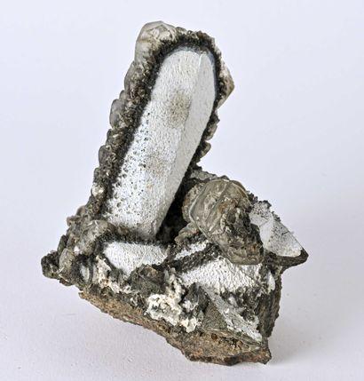 MACLE CALCITE MONTEBRASITE CHIHUAHUA Mexique (14cm)