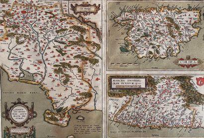 ORTELIUS, Abraham Corsica, avec sur la même planche deux autres cartes des régions...
