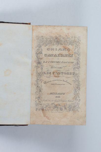 Pastoret, A[médée David ] di, conte Chiara Catalanzi. La Corsica nel 1736. Prima...