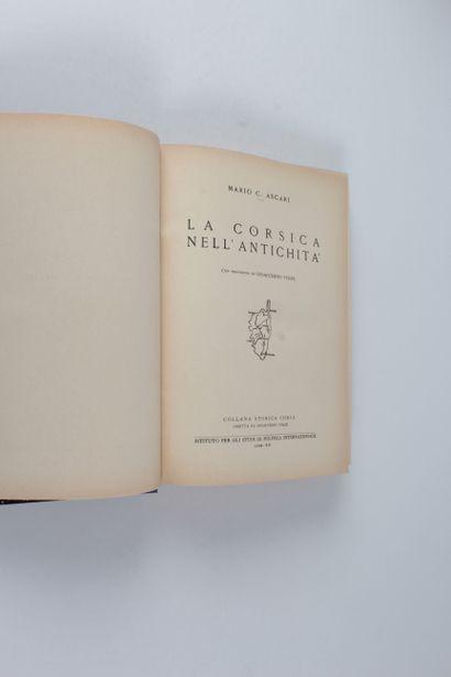 Ascari, Mario C La Corsica nell'antichità con prefazione di Gioacchino Volpe. - [Milano]...