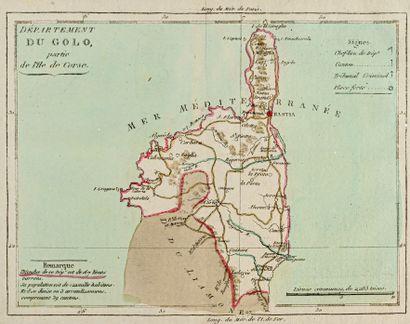 Brion de la tour, Louis Department of the Golo, part of the Island of Corsica. 1801....
