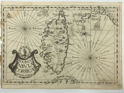 Montecalerio, Joannis Provincia Insula Corsicae. 1712. 22 x 32. In Atlas des Capucins,...