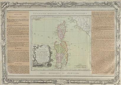 BRION Les Isles de Sardaigne et de Corse, divisées par provinces, tant civiles qu'ecclésiastiques...À...