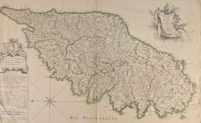 JAILLOT (Bernard). Carte particulière de l'isle de Corse divisée par ses dix provinces...