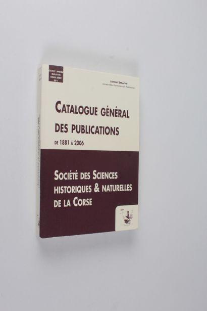 Serafini, Janine Catalogue général des publications de la société des sciences historiques...