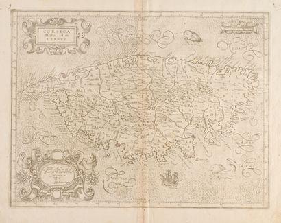 MAGINI, GIOVANNI ANTONIO Corsica insula olim Cyrnus...1620. 34 x 45, slight defect...