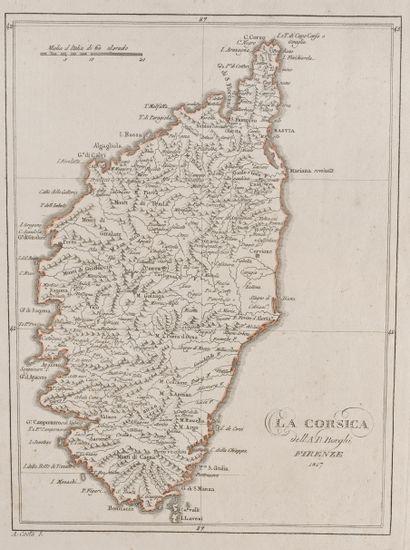 Borghi, A. B La Corsica. Firenze, 1817. 30 x 22,5, limites aquarellées