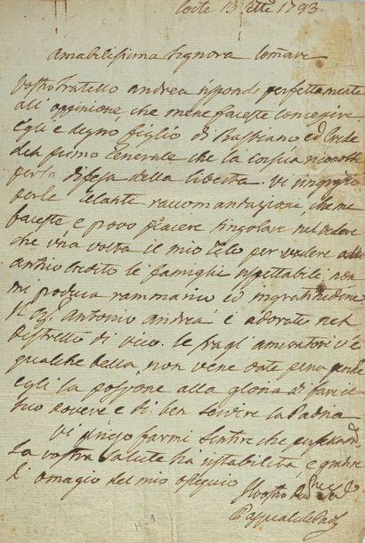 Paoli, Pascal, général de la nation corse (1725-1807).-