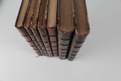 [Lot BSSHNC].- Lots de volumes in-8° reliés en demi-chagrin marron, dos à nerfs, en bonne condition :