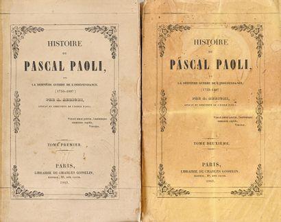 Arrighi, Arrigo Histoire de Pascal Paoli, ou La dernière guerre de l'indépendance...