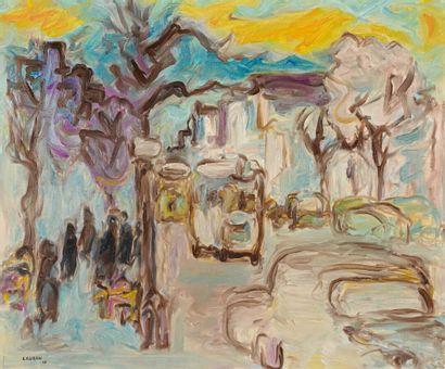 André LAURAN (1922-2009)  Avenue Matignon,...