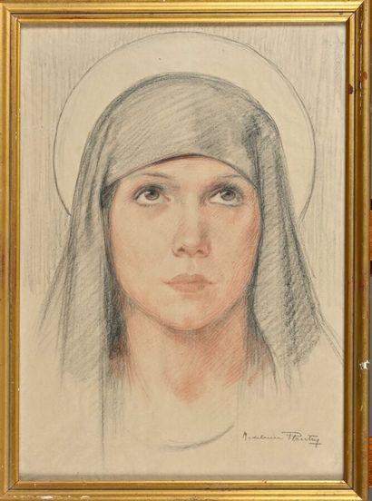 Madeleine PLANTEY (1890-1985)  Face of a...