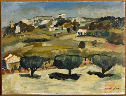 Marcel SAINT JEAN (1914-1994)  Paysage provençal...