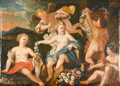 18th century FRENCH school  Feast of Flora...