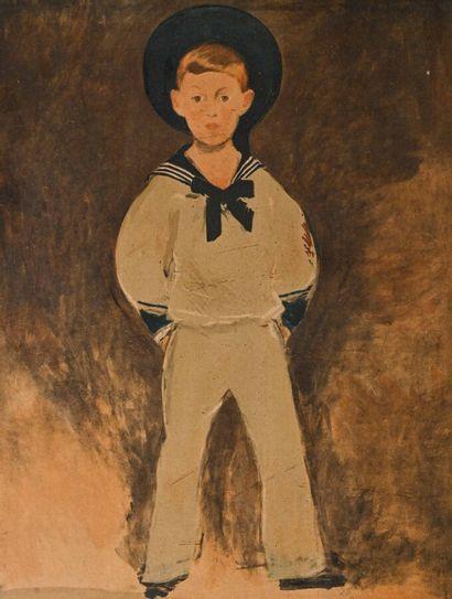 D'après Edouard MANET (1832 - 1883)  Portrait...