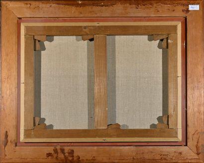 Ecole FRANCAISE du XIXè siècle  Epone  Huile sur toile, signée DOMERGUE et dédicacée,...