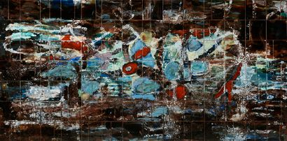 Myriam BROS (1918-2003)  Untitled, 1964  Ceramic painting, signed and dated 64 lower...