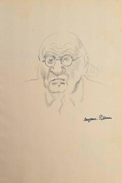 Georges MANZANA-PISSARRO (1871-1961)  Presumed self-portrait of the artist  Pencil...