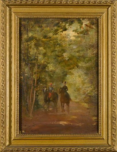 Ecole FRANCAISE du XIXe siècle  Cavaliers...