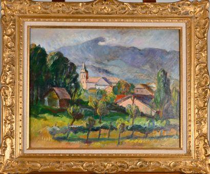 Jean COMMUNAL (1911-1982)  Saint Ombre  Huile...