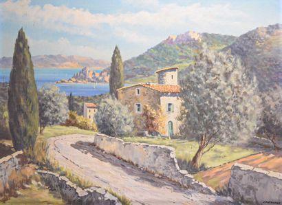 Jean POTRONAT (XXe siècle)  La tour du lac...