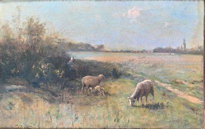 Edwin Sherwood CALVERT (1844-1898)  Paysage...