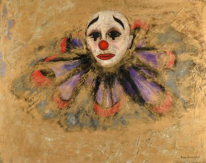 BEDROSSIAN (XXè siècle)  Clown  Huile sur...