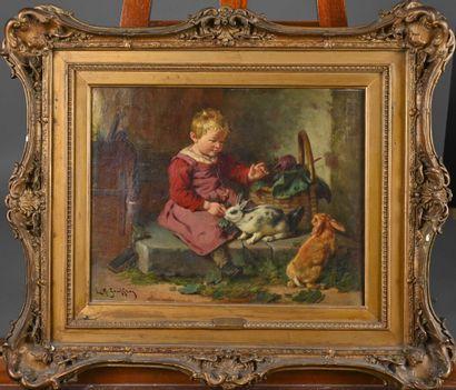 Ecole française du XIXè siècle  L'enfant...