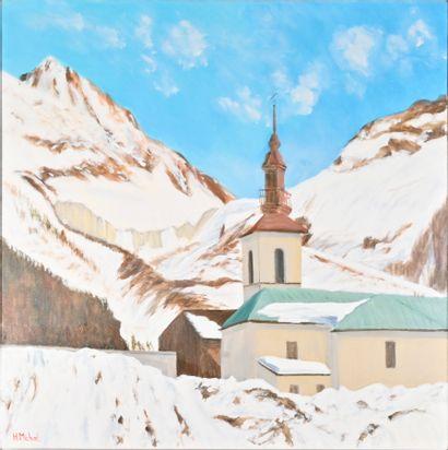 Hervé MICHAL (XX-XXIe siècle)  Eglise d'Argentière...