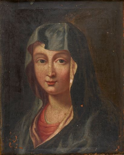 18th century FRENCH school  The Virgin  Oil...