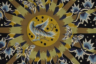 """After Jean PICART LE DOUX (1902-1982)  """"Summer light"""".  Woolen tapestry printed..."""