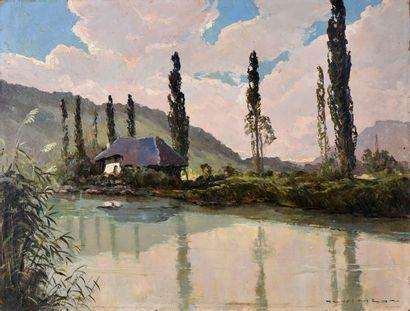 Henri MEGE (1904-1984)  Canal de Savière...